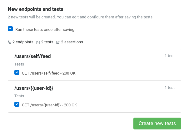 Fig 1.2 Import new API tests